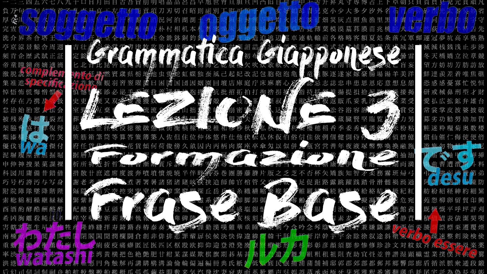 Lezione 03 - Composizione Frase Base Giapponese + EXTRA - The Japanese Dreams